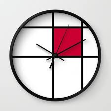 cool wall clock clocks designs cool wall clock mondrian red home art decor 89662
