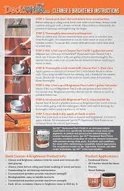 Make All From Wood Deckwise Deck U0026 Wood Cleaner Part 1 16 Oz For 600 Sq Ft Of