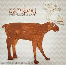 free printable reindeer activities printable caribou reindeer craft learncreatelove com kid blogger