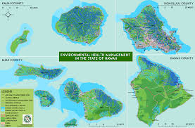 Hawaii State Map by Environmental Health Environmental Geographic Information System