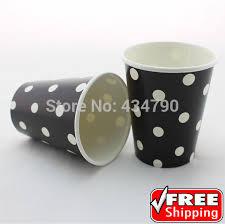 bicchieri di carta personalizzati 60 pz 9 oz bicchieri di carta bianco nero polka dot per bere