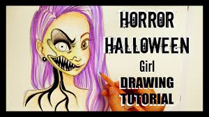 scary halloween sign how to draw horror halloween youtube