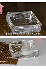 new fashion clear square crystal cigar ashtray for home decor