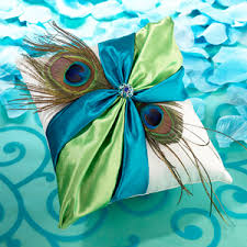 peacock wedding favors peacock feather ring pillow ring pillows wedding essentials