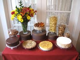 thanksgiving dessert table artisan cake company