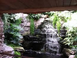 home design garden indoor ponds and waterfalls with stone design