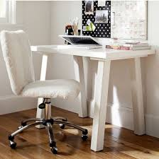 Fuzzy White Chair Perfect Small Desk Chair Home Office Chairs And Elegant Chairin