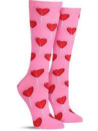 heart lollipop heart lollipop s day socks for women