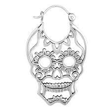 silver plated sugar skull river city tattoo