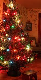 decoration ideas folk tree design with colorful lights