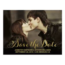 save the date announcements gold save the date postcards zazzle