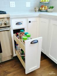 Kitchen Cabinet Spice Organizers by Kitchen Pull Out Shelves Kitchen Design Idea Hide Pull Out Trash