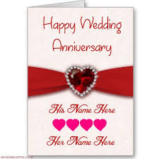 wedding wishes online editing write his and name on anniversary wish card print boy and