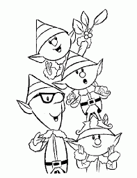 christmas elf coloring pages coloring