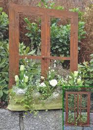 garten dekorieren ideen metall stuhl edelrost garten deko idee zum beflanzen oder