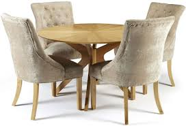 Oak Dining Table Chairs Buy Serene Bexley Oak Dining Set Round With 4 Hampton Mink