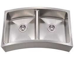 Double Bowl Stainless Steel Kitchen Sink 404 Curved Double Bowl Apron Stainless Steel Kitchen Sink
