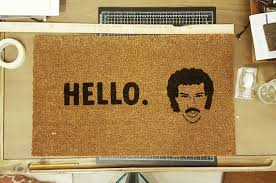 hello lionel richie welcome mat custom housewarming gifts hand