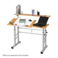 Drafting Table Dimensions Height Adjustable Split Level Drafting Table Safco Products