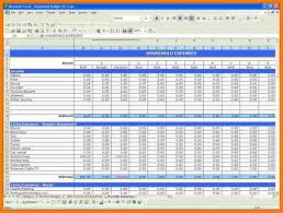 Monthly Household Budget Spreadsheet by 8 Household Budget Excel Monthly Budget Forms