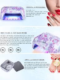 amazon com 36w led uv lamp nail gel dryer perfect summer pro