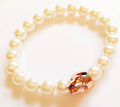 skull crystal bracelet images Rose gold swarovski crystal skull bracelet jpg