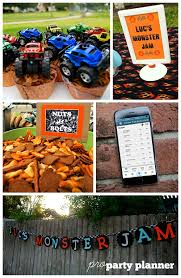 monster truck jam party supplies monster truck monster jam birthday party pro party planner