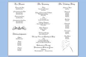 wedding program template tri fold wedding program templates carbon materialwitness co