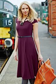 Clothes For Tall Girls Long Dresses For Tall Women Fit And Flare Dress In Purple At Lts