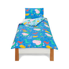 Peppa Pig Toddler Duvet Cover Peppa Pig George Roarsome Bedding Range Bedding George At Asda