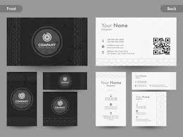 Business Cards Front And Back Front And Back Page View Of Creative Business Card Name Card Or