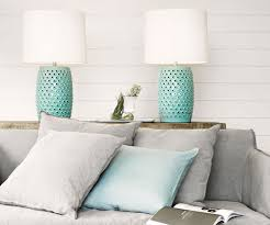 beacon lighting tatum 1 light table lamp in mint with white