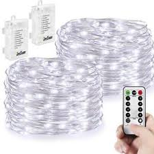 string lights with battery pack 2 pack string lights battery operated 66 led 16 4ft silver wire 8