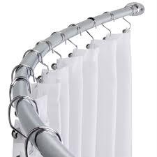 modern corner shower curtain rod ideal corner shower curtain rod