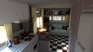 Home Design 3d Trailer by 3d Reconstruction Of The 1953 Redman New Moon Trailer Interior