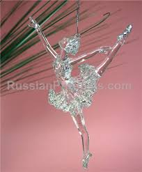 russian products transparent ballerina ornament for tree