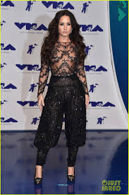 demi lovato is stunningly sheer at mtv vmas 2017 photo 3946402