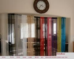 amazon com white string curtain 40x110