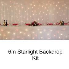wedding backdrop lighting kit starlight wedding backdrop kit 6m mirage wedding backdrops