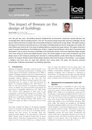 the impact of breeam on the design of buildings