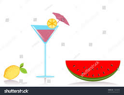 vector summertime cocktail party food clipart stock vector