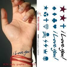 aliexpress com buy temporary tattoo stickers body arm wrist star