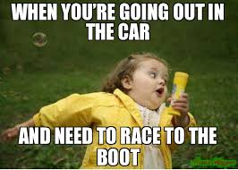 Bubble Girl Meme - the race to sit in the boot is real meme chubby bubbles girl