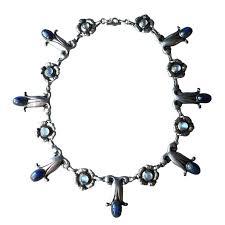 silver necklace sale images Georg jensen labradorite moonstone sterling silver necklace no 7 jpg
