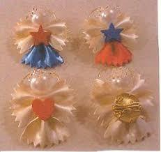 diy pasta christmas angel ornaments diy christmas pinterest