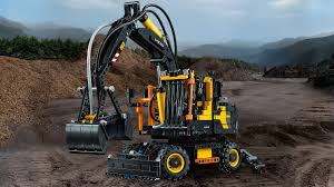 1st day of construction gifts lego volvo ew160e wheeled excavator