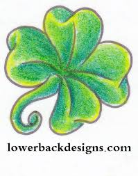 coolest yellow black and green color ink four leaf clover tattoo