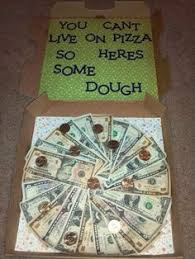 gifts for college graduates thoughtful pizza box money graduation gift sunburstgifts org