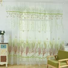 Scarf Curtains Fashionable Curtains Butterfly Window Panel Printed Scarf Curtains