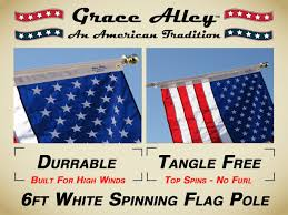 American Flag With 13 Stars In A Circle Amazon Com Flag Pole Tangle Free Spinning Flagpole Residential